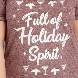 NWT Full of Holiday Spirit Tee Size 1X